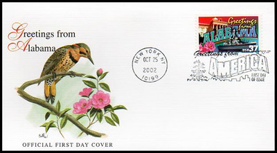 3696 - 3745 / 37c Greetings From America New York, NY Postmarks Set of 50 Fleetwood 2002 First Day Covers
