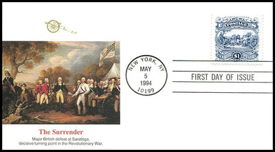 2590 / $1 Surrender of Burgoyne Fleetwood 1994 First day Cover