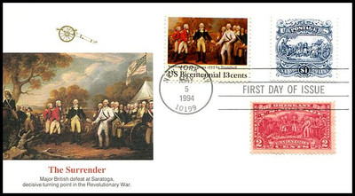 2590 / $1 Surrender of Burgoyne Combo Fleetwood 1994 First Day Cover