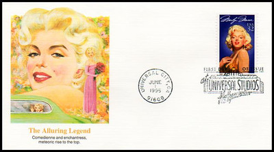 2967 / 32c Marilyn Monroe Set of 5 Different Cachets 1995 Fleetwood FDCs