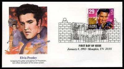 2721 / 29c Elvis Presley : American Music Series 1993 Set of 5 Fleetwood FDCs