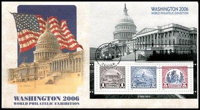 4075 and 4075a - c / $1, $2, $5 Washington 2006 Complete Set of 4 Fleetwood 2006 First Day Covers