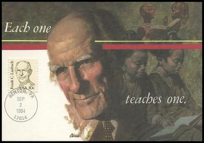 1864 / 30c Frank C. Laubach : Great Americans Series 1984 Fleetwood Maximum Card