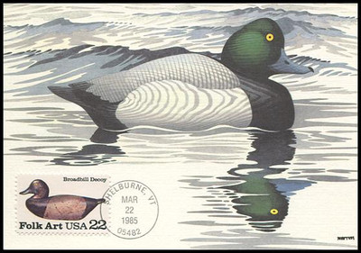 2138 - 2141 / 22c Duck Decoys Folk Art Set of 4 Fleetwood 1985 Maximum Card