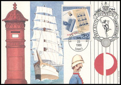 2198 - 2201 / 22c Stamp Collecting Set of 4 Fleetwood 1986 First Day of Issue Maximum Card