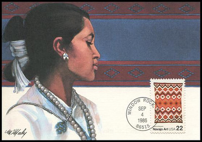 2235 - 2238 / 22c Navajo Indian Art Set of 4 Fleetwood 1986 First Day of Issue Maximum Card