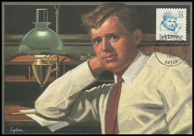 2197 - 25c Jack London : Great Americans Series 1988 Fleetwood First Day of Issue Maximum Card