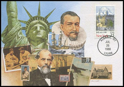 2346 / 25c New York Constitution Ratification 1988 Fleetwood First Day of Issue Maximum Card