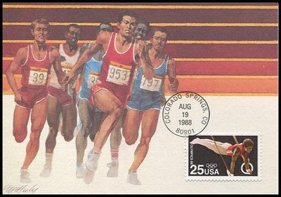 2380 / 25c Summer Olympics 1988 Fleetwood First Day of Issue Maximum Card