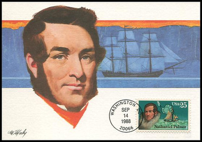 2386 - 2389 / 25c Antarctic Explorers Set of 4 Fleetwood 1988 First Day of Issue Maximum Card