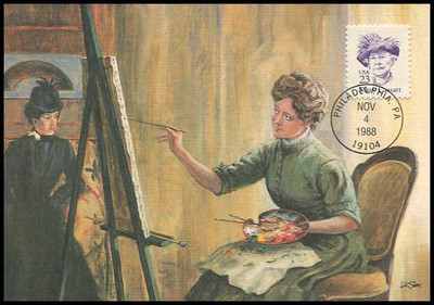 2181 / 23c Mary Cassatt : Great Americans Series 1988 Fleetwood Maximum Card