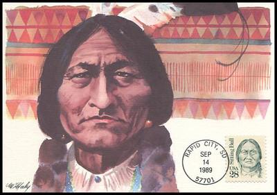 2183 / 28c Sitting Bull : Great Americans Series 1989 Fleetwood Maximum Card