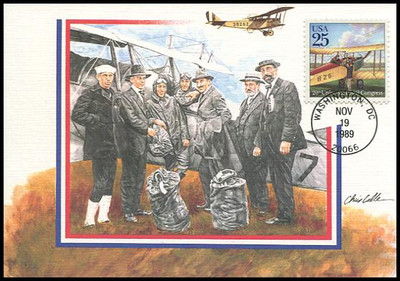 2434 - 2437 / 25c Classic Mail Delivery Set of 4 Fleetwood 1989 First Day of Issue Maximum Card