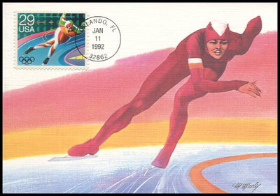 2611 - 2615 / 29c Winter Olympics Set of 5 Fleetwood 1992 First Day of Issue Maximum Card