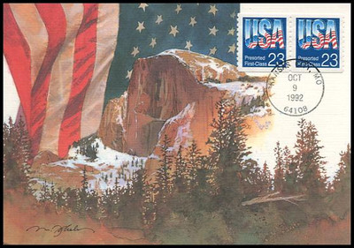 2607 / 23c USA Presorted First-Class Coil Pair 1992 Fleetwood First Day of Issue Maximum Card