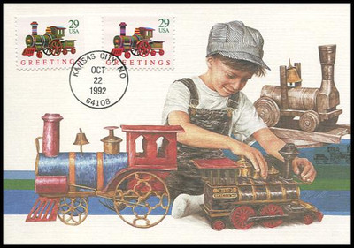 2711 - 2718 / 29c Classic Christmas Toys Combo : Christmas Series On Set of 4 Fleetwood 1992 First Day of Issue Maximum Card