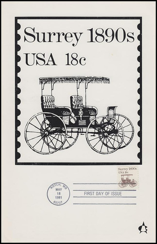 1907 / 18c Surrey : Transportation Series 1981 Andrews Cachet Maxi Card FDC