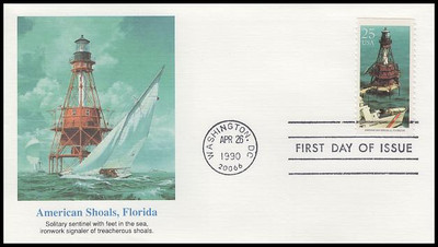 2470 - 2474 / 25c Lighthouses Set of 5 Fleetwood 1990 First Day Covers