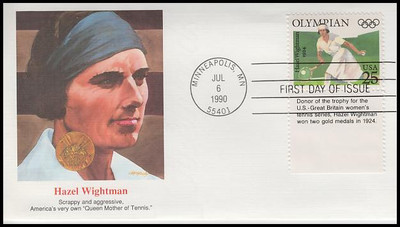 2496 - 2500 / 25c Olympians Set of 5 With Tabs Fleetwood 1990 First Day Covers