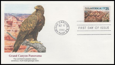 2512 / 25c Grand Canyon: Americas Series 1990 Fleetwood First Day Cover