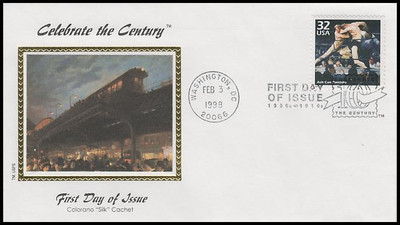 3182a-o / 32c Celebrate The Century ( CTC ) 1900s with Info Cards Set of 15 Colorano Silk 1998 FDCs