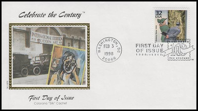 3183a-o / 32c Celebrate The Century ( CTC ) 1910s with Info Cards Set of 15 Colorano Silk 1998 FDCs