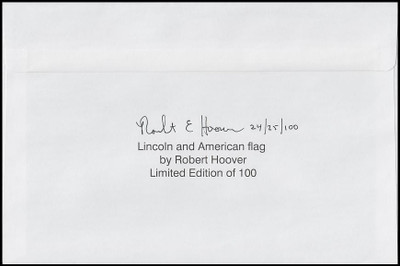 4860 / 21c Abraham Lincoln Oversized Large Format 2014 R. Hoover Printed Limited Edition FDC #3