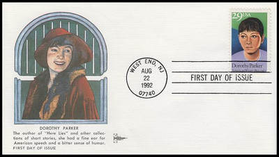 2698/ 29c Dorothy Parker : Literary Arts  Series Gill Craft 1992 First Day Cover