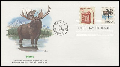 1757a - h / 13c CAPEX Wildlife Set of 8 Fleetwood 1978 First Day Covers