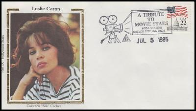 Leslie Caron : ASDA Tribute To Movie Stars Colorano Silk 1985 Event Cover