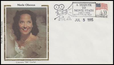 Merle Oberon : ASDA Tribute To Movie Stars Colorano Silk 1985 Event Cover