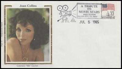 Joan Collins : ASDA Tribute To Movie Stars Colorano Silk 1985 Event Cover