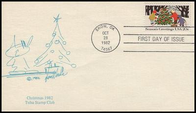 2027 - 2030 / 20c Seasons Greetings : Contemporary Christmas 1982 Tulsa Stamp Club