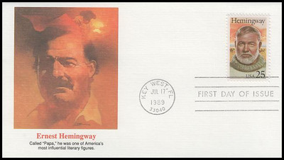 2418 / 25c Ernest Hemingway : Literary Arts Series 1989 Fleetwood First Day Cover