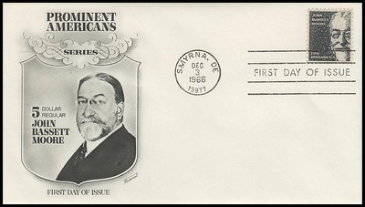 1295 / $5 John Bassett Moore Fleetwood 1966 First Day Cover