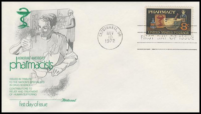 1473 / 8c Pharmacy : Saluting Pharmacists Fleetwood 1972 First Day Cover