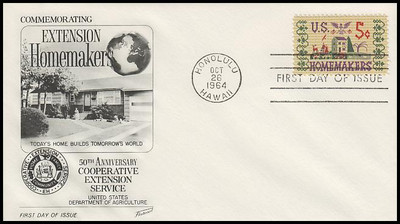 1253 / 5c Homemakers 1964 Fleetwood First Day Cover