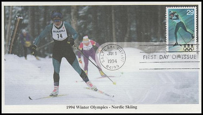 2807 - 2811 / 29c Winter Olympic Games Set of 5 1994 Mystic FDCs