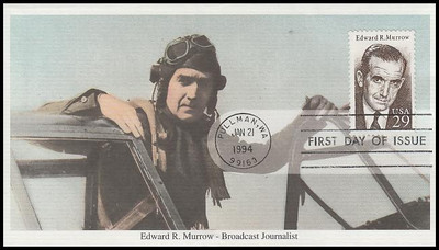 2812 / 29c Edward R. Murrow Journalist 1994 Mystic FDC