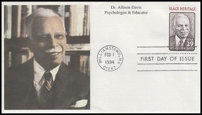2816 / 29c Dr. Allison Davis : Black Heritage Series 1994 Mystic FDC