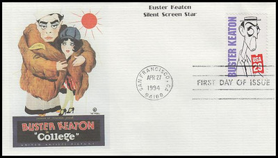 2819 - 2828 / 29c Stars of the Silent Screen Set of 10 Mystic 1994 FDCs