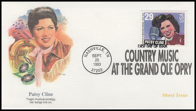 2771 - 2774 / 29c Legends of Country and Western Music Set of 4 Fleetwood 1993 FDCs