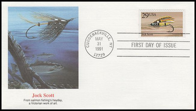 2545 - 2549 / 25c Fishing Flies Set of 5 Fleetwood 1991 First Day Covers