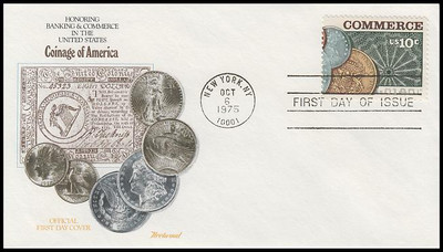 1577 - 1578 / 10c Banking and Commerce Set of 2 Fleetwood 1988 FDCs