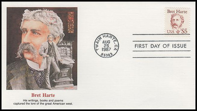 2196 / $5 Bret Harte 1987 Fleetwood First Day Cover