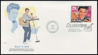 2731 / 29c Elvis Presley : Legend of American Music Booklet Single Set of 5 Different Fleetwood 1993 FDCs