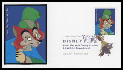 5213 - 5222 / 49c Disney Villains Set of 10 Digital Color Postmark FDCO Exclusive 2017 FDCs