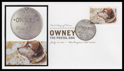 4547 / 44c Owney The Postal Dog Digital Color Postmark 2011 FDCO Exclusive FDC