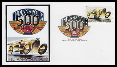 4530 / 44c Indianapolis 500 Digital Color Postmark FDCO Exclusive 2011 First Day Cover