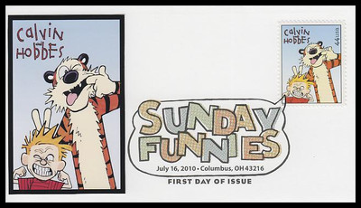 4467 - 4471 / 44c Sunday Funnies Comic Strips Set of 5 Digital Color Postmark FDCO Exclusive 2010 FDCs